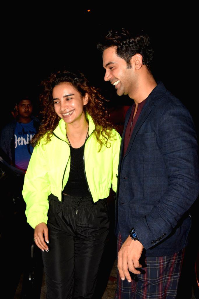 Actors Rajkumar Rao and Patralekha seen at Bandra in Mumbai on Oct 18, 2019. - Rajkumar Rao and Patralekha