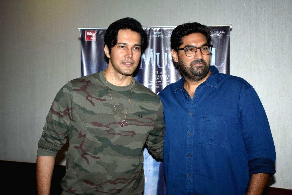"Actors Rajneesh Duggal and Kunaal Roy Kapur at ""Mushkil: Fear Behind You"" song launch in Mumbai on July 18, 2019. - Rajneesh Duggal and Kunaal Roy Kapur"