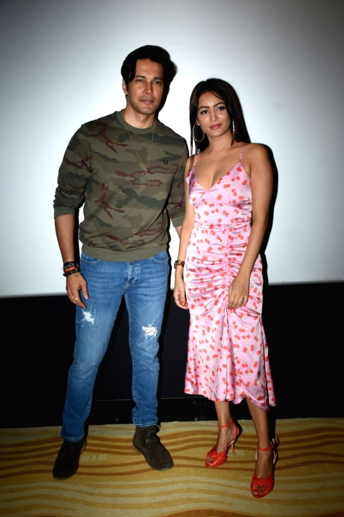 "Actors Rajneesh Duggal and Pooja Bisht at the song launch of their upcoming film ""Mushkil: Fear Behind You"" in Mumbai on July 18, 2019. - Rajneesh Duggal and Pooja Bisht"