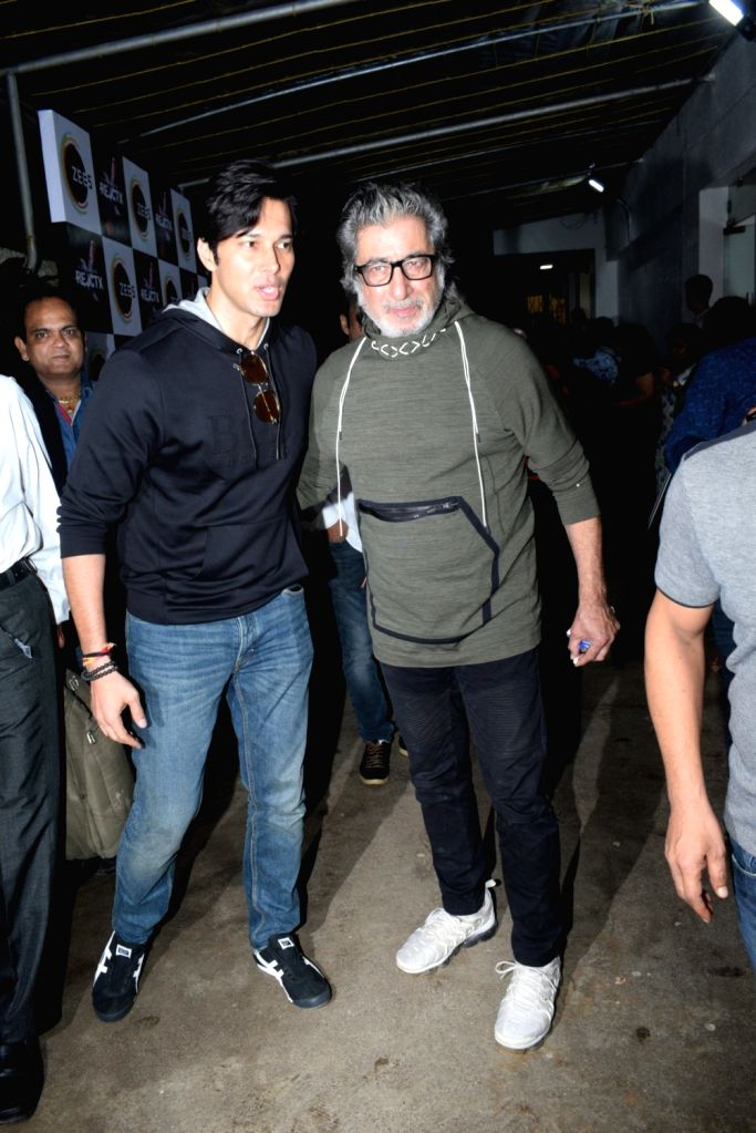 Actors Rajneesh Duggal and Shakti Kapoor seen at a recording studio in Mumbai's Bandra on July 24, 2019. - Rajneesh Duggal and Shakti Kapoor