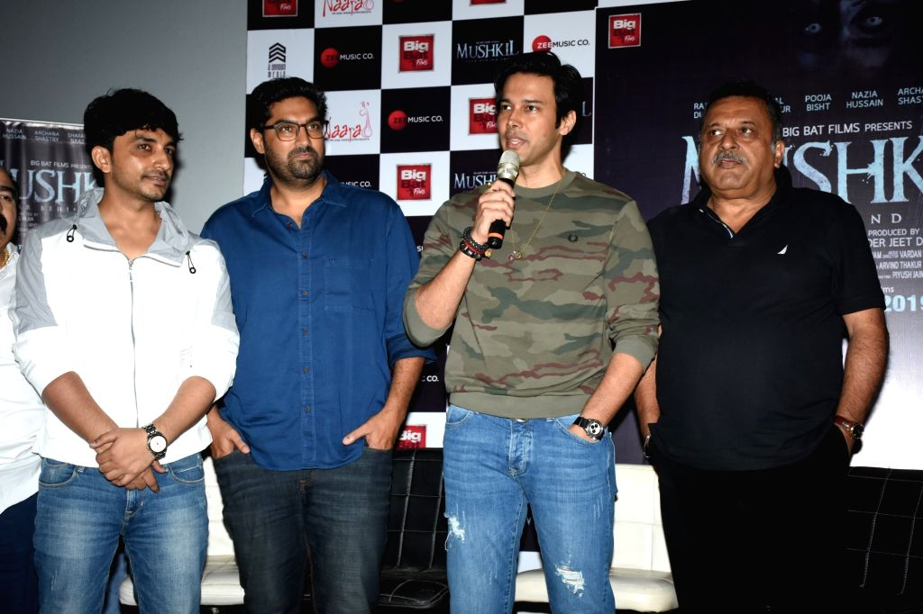 "Actors Rajneesh Duggal, Kunaal Roy Kapur and filmmaker Ravindra Jeet Dariya at ""Mushkil: Fear Behind You"" song launch in Mumbai on July 18, 2019. - Rajneesh Duggal and Kunaal Roy Kapur"