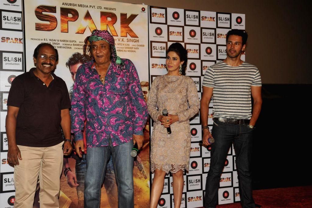 Actors Rajneesh Duggal, Mansha Bahl and Ranjeet during the trailer launch of film Spark in Mumbai on July 21, 2014. - Rajneesh Duggal, Mansha Bahl and Ranjeet