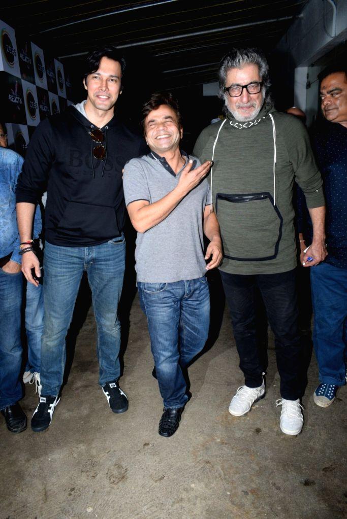 Actors Rajneesh Duggal, Rajpal Yadav and Shakti Kapoor seen at a recording studio in Mumbai's Bandra on July 24, 2019. - Rajneesh Duggal, Rajpal Yadav and Shakti Kapoor
