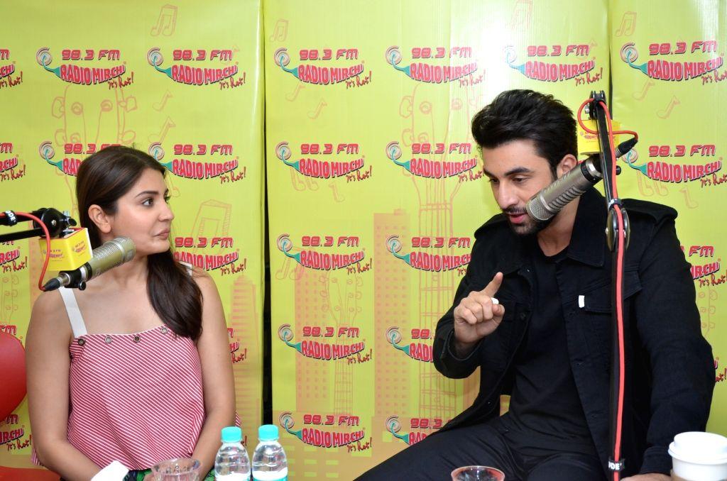 Actors Ranbir Kapoor and Anushka Sharma at Radio Mirchi to promote Ae Dil Hai Mushkil in Mumbai on Oct 26, 2016. - Ranbir Kapoor and Anushka Sharma