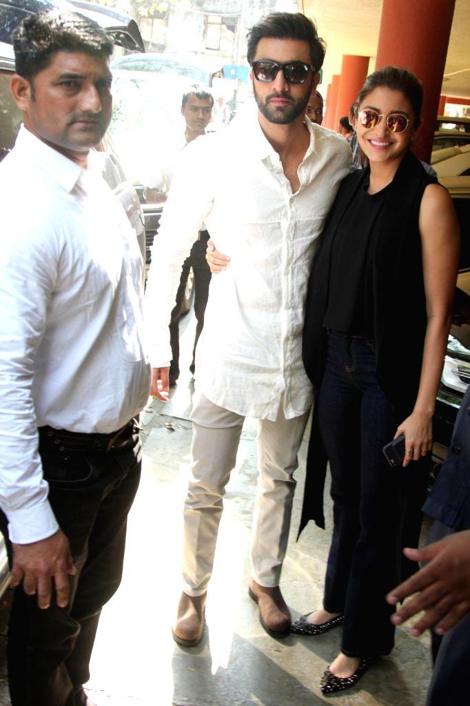 "Actors Ranbir Kapoor and Anushka Sharma during a programme organised to promote their upcoming film  ""Ae Dil Hai Mushkil"" in Mumbai, on Oct 26, 2016. - Ranbir Kapoor and Anushka Sharma"