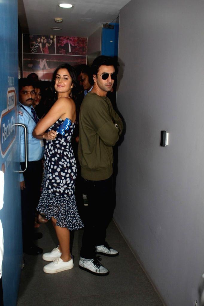 Actors Ranbir Kapoor and Katrina Kaif during the promotion of film Jagga Jasoos at Radio City in Mumbai, on June 13, 2017. - Ranbir Kapoor and Katrina Kaif