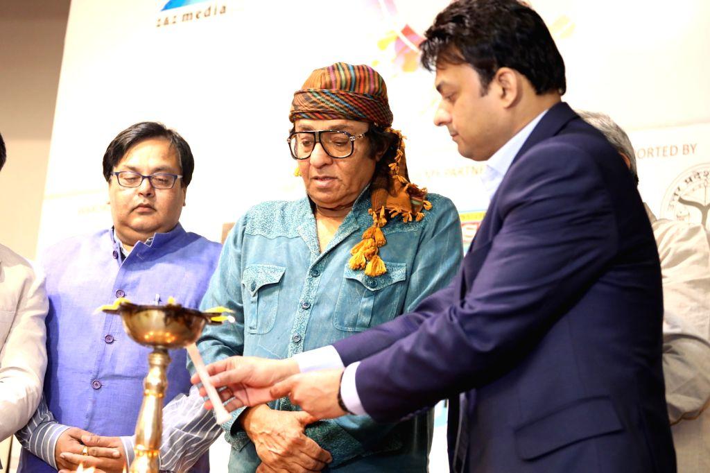 Actors Ranjit and Hasan Haider felicitated at 3rd International Film Festival of Prayag in Mumbai on Feb 27, 2017. - Ranjit and Hasan Haider