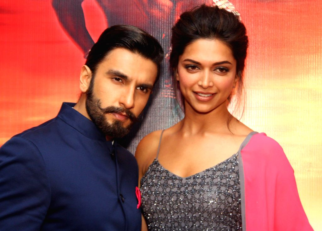 Actors Ranveer Singh and Deepika Padukone during a press conference for the promotion of their upcoming film `Ram-Leela`in New Delhi on Nov.7, 2013. (Photo:Amlan Paliwal/IANS) - Ranveer Singh and Deepika Padukone