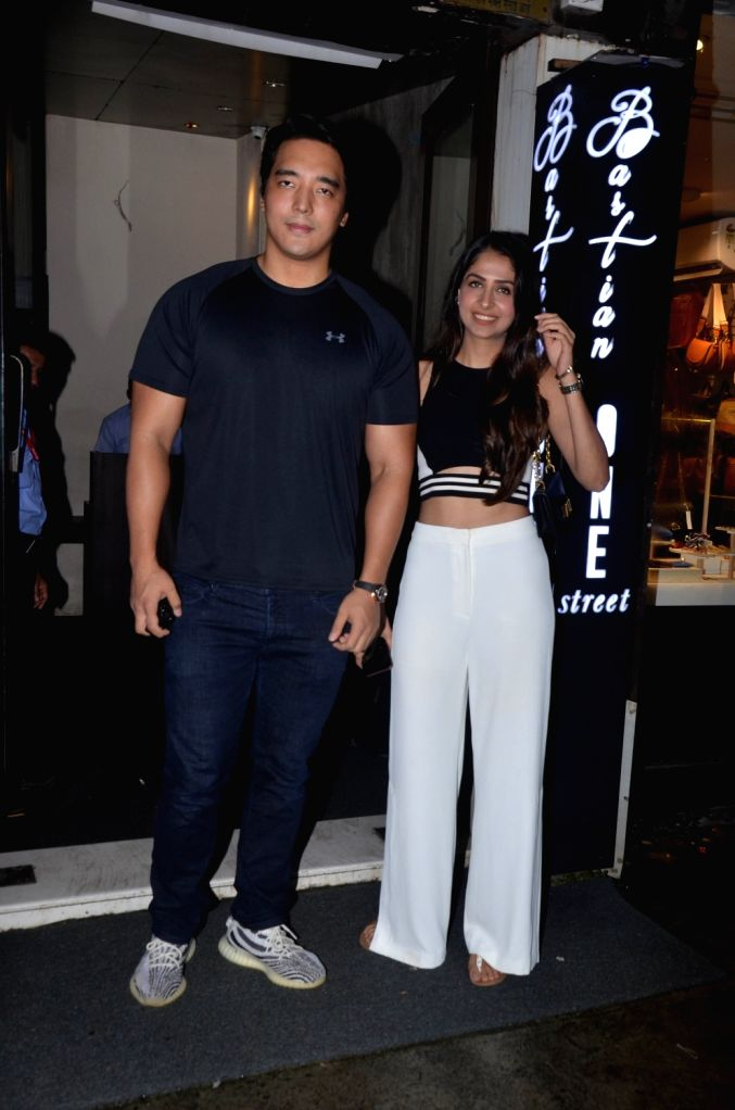 Actors Rinzing Denzongpa and Malvika Raaj seen at Bandra in Mumbai on Sep 8, 2019. - Rinzing Denzongpa and Malvika Raaj