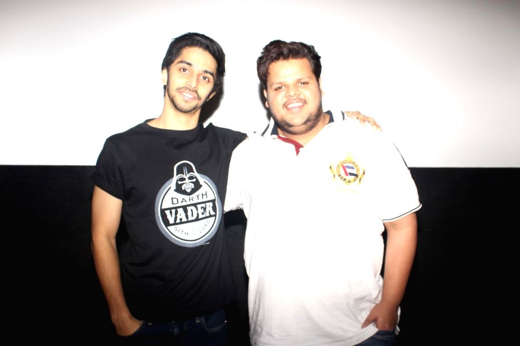 Actors Rishabh Arora and Shivam Patil during the trailer launch of film Ghayal Once Again, in Mumbai, on Jan 21, 2016. - Rishabh Arora and Shivam Patil