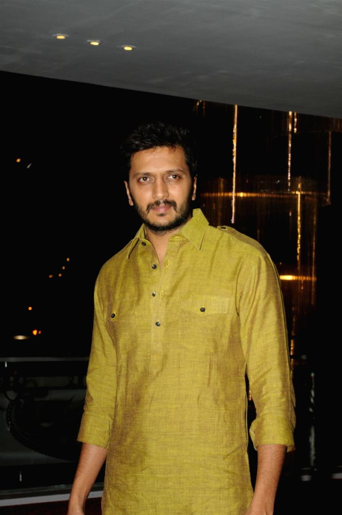 Actors Riteish Deshmukh during the success party of film Humshakals organised by Fox Star Studios and filmmaker Vashu Bhagnani in Mumbai on June 24, 2014. - Riteish Deshmukh