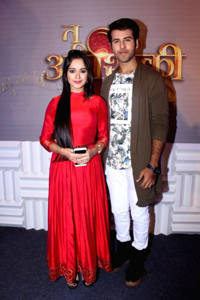 "Actors Ritvik Arora and Jannat Zubair during the launch of colors new TV Show ""Tu Aashiqui"" in Mumbai on Sept 18, 2017. - Ritvik Arora and Jannat Zubair"