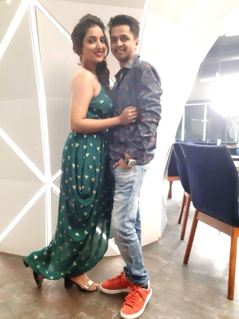 Actors Rupali Bhosle and Ankit Magare. - Rupali Bhosle and Ankit Magare
