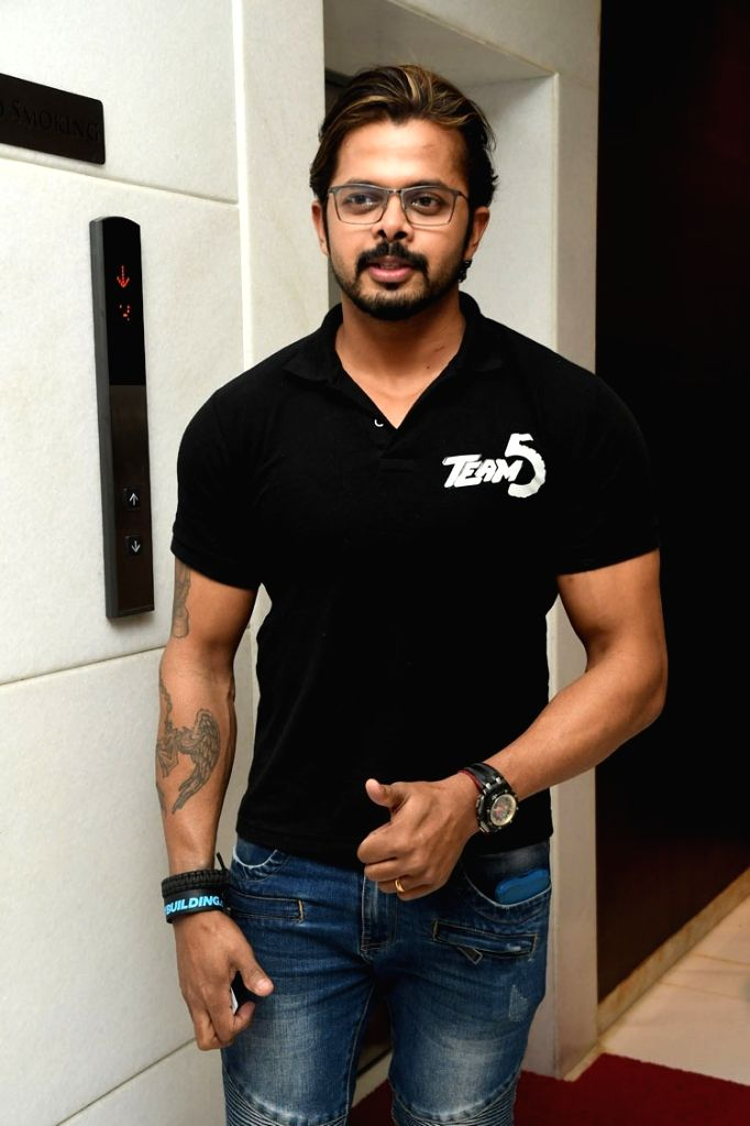 """Actors S. Sreesanth during the trailer launch of their upcoming Malayalam film """"Team 5"""". - S. Sreesanth"""