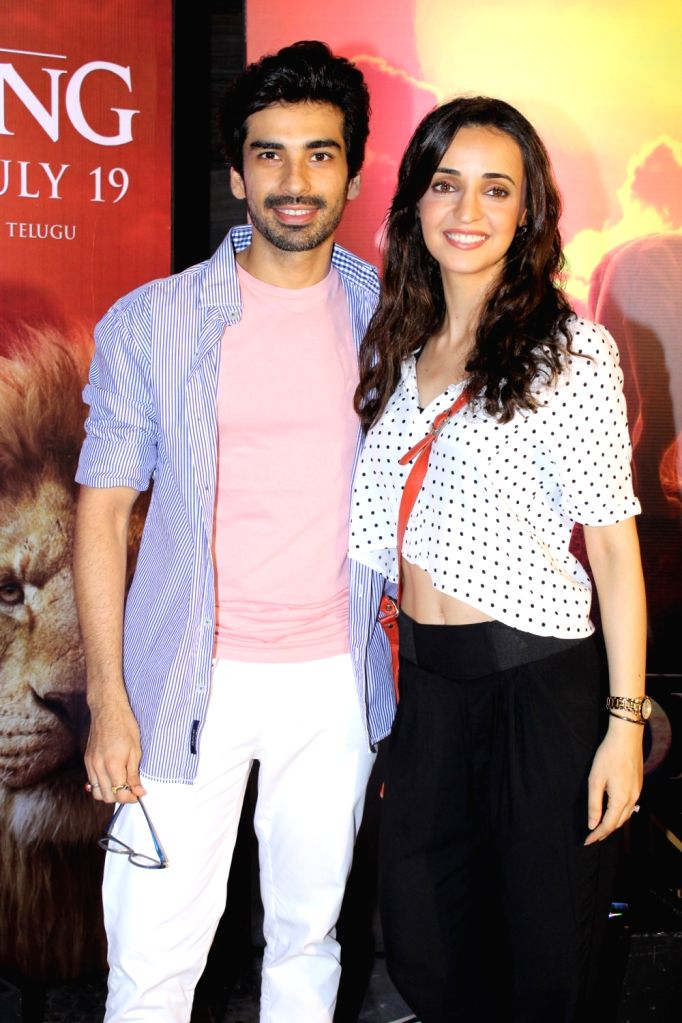 """Actors Sanaya Irani and Mohit Sehgal at the special screening of upcoming animated film """"The Lion King"""" in Mumbai, on July 16, 2019. - Sanaya Irani and Mohit Sehgal"""