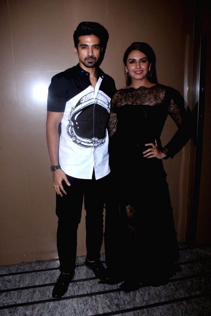 "Actors Saqib Saleem and Huma Qureshi  during the special screening of film ""Partition: 1947"" in Mumbai on Aug 17, 2017. - Saqib Saleem and Huma Qureshi"