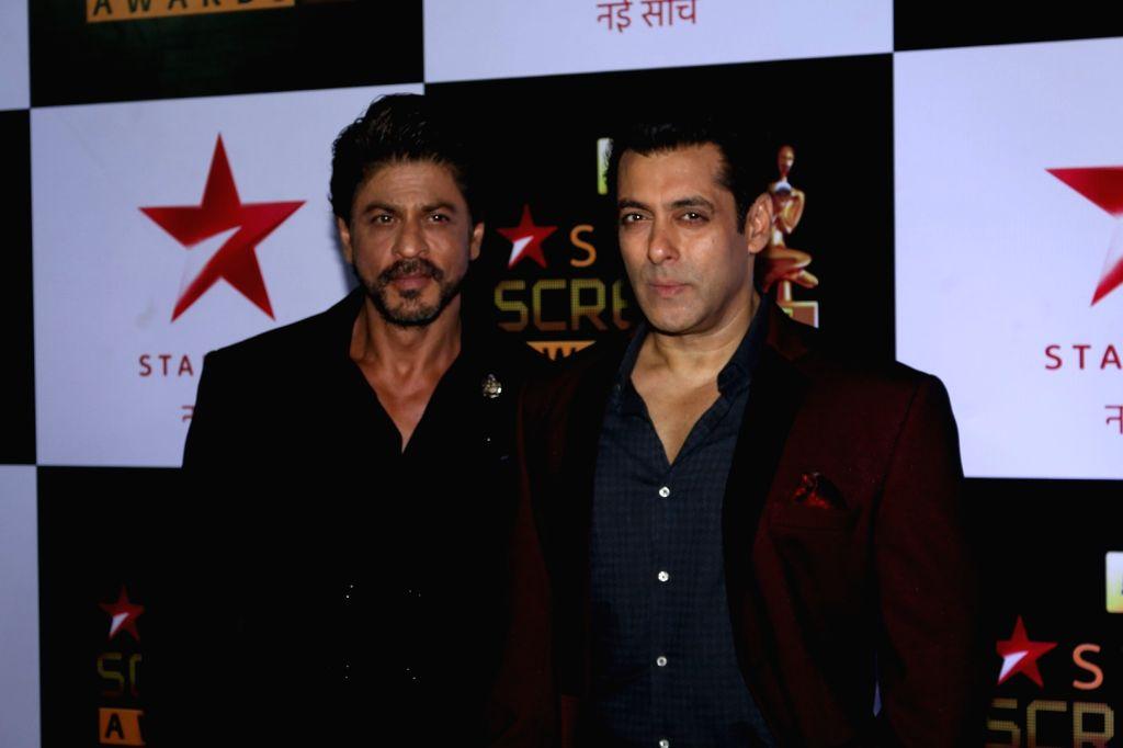 Actors Shah Rukh Khan and Salman Khan. (File Photo: IANS) - Shah Rukh Khan and Salman Khan