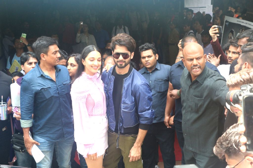 "Actors Shahid Kapoor and Kiara Advani at the launch of the song ""Mere Sohneya"" from their upcoming film ""Kabir Singh"", in Mumbai on June 6, 2019. - Shahid Kapoor, Kiara Advani and Kabir Singh"