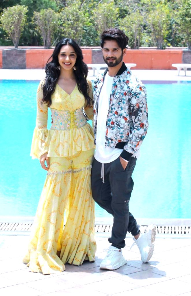 "Actors Shahid Kapoor and Kiara Advani during the promotions of their upcoming film ""Kabir Singh"", in Chandigarh on June 13, 2019. - Shahid Kapoor, Kiara Advani and Kabir Singh"
