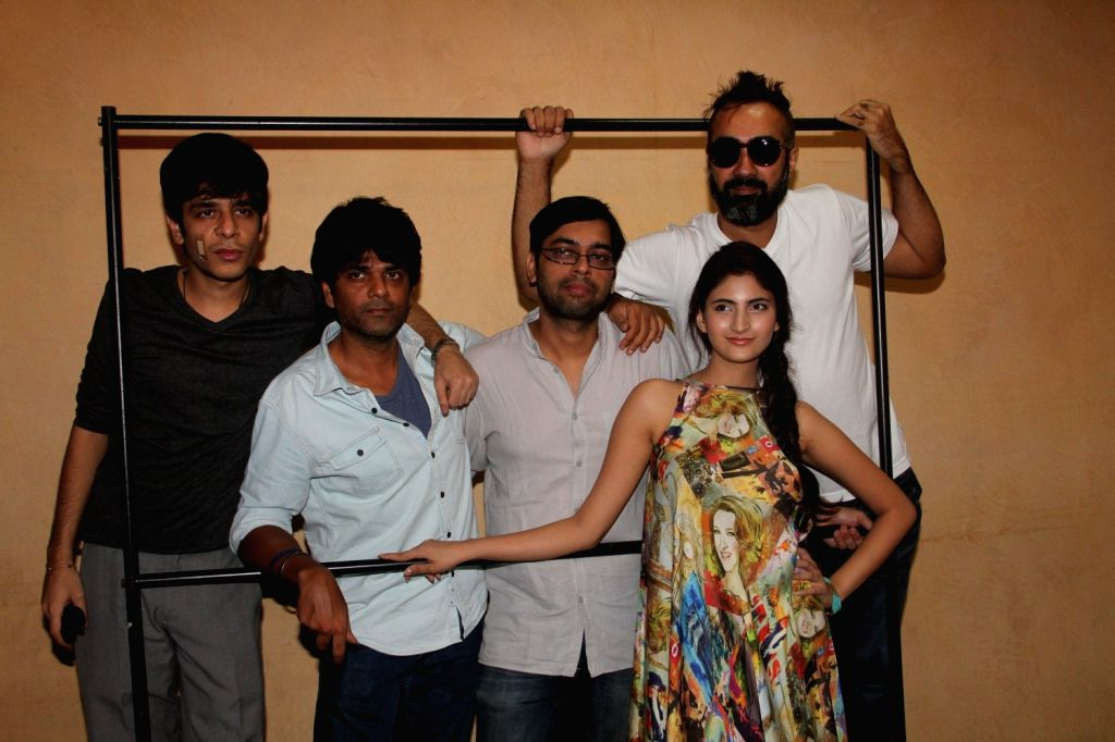 Actors Shashank Arora, Amit Sial, filmmaker Kanu Behl, actors Shivani Raghuvanshi and Ranvir Shorey during a meet and greet session of film Titli in Mumbai on Oct 16, 2015. - Shashank Arora, Amit Sial, Shivani Raghuvanshi and Ranvir Shorey