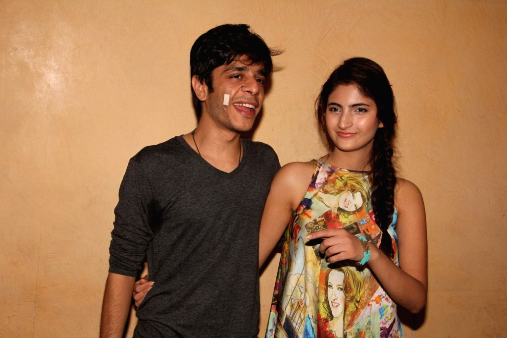 Actors Shashank Arora and Shivani Raghuvanshi during a meet and greet session of film Titli in Mumbai on Oct 16, 2015. - Shashank Arora and Shivani Raghuvanshi