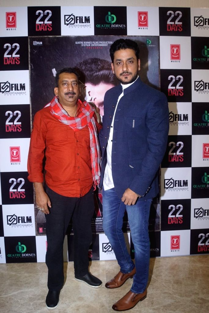 "Actors Shivam Tiwari and Hemant Pandey at the trailer launch of upcoming film ""22 Days"" in Mumbai, on July 24, 2018. - Shivam Tiwari and Hemant Pandey"