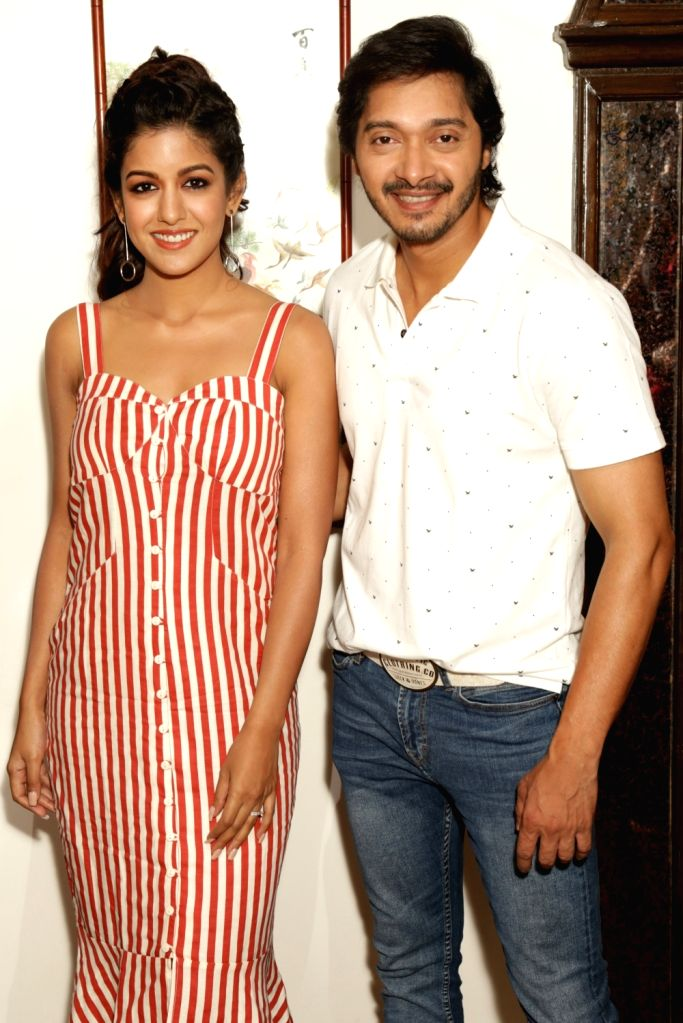 "Actors Shreyas Talpade and Ishita Dutta during a press conference to promote their film ""Setters"" in New Delhi, on 25 April, 2019. - Shreyas Talpade and Ishita Dutta"