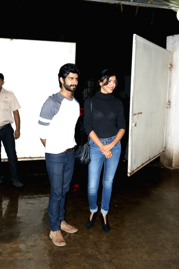 Actors Siddharth Menon and Shriya Pilgaonkar during the screening of film Queen of Katwe in, in Mumbai, on Oct 4, 2016. - Siddharth Menon and Shriya Pilgaonkar
