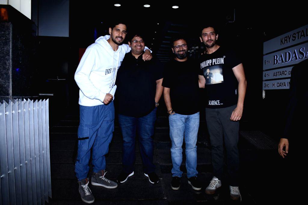 Actors Sidharth Malhotra, Shaad Randhawa, director Milap Zaveri and producer Nikkhil Advani seen at Bandra, in Mumbai on Nov 27, 2019. - Milap Zaveri, Sidharth Malhotra, Shaad Randhawa and Nikkhil Advani