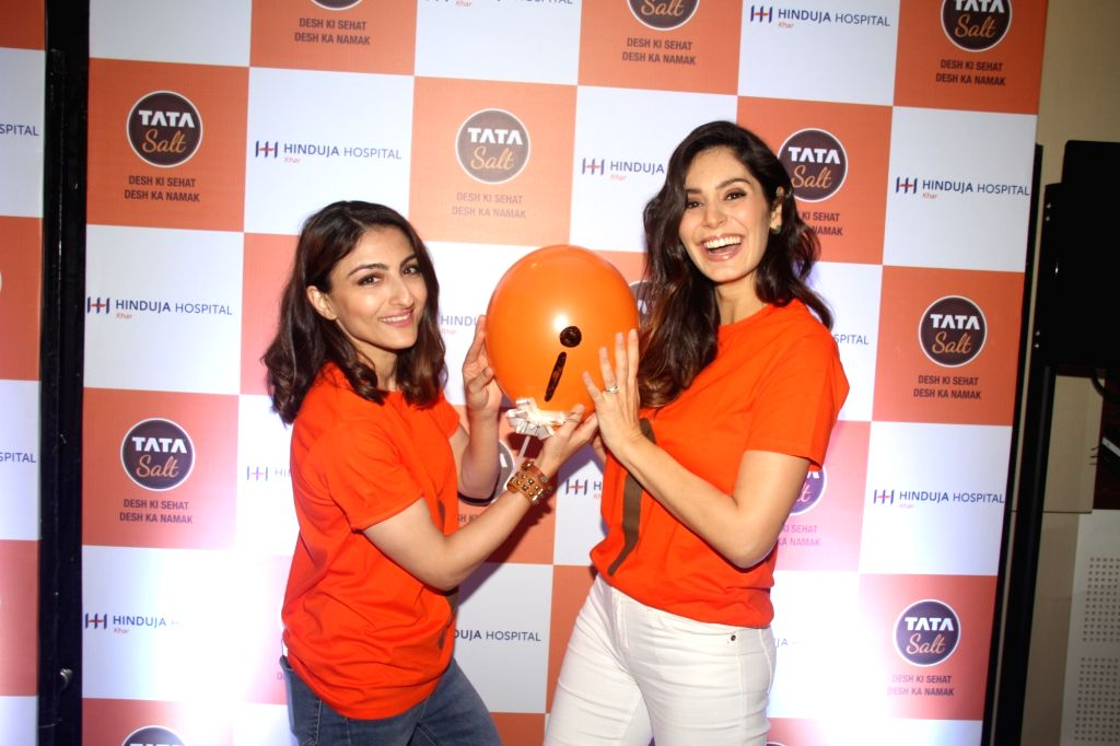 "Actors Soha Ali Khan and Bruna Abdullah during the ""#MissingI"" campaign organised to emphasize on the importance of nutrition and Iodine, a micronutrient for overall health and ... - Soha Ali Khan and Bruna Abdullah"