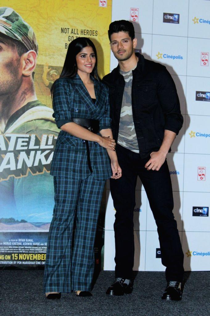 "Actors Sooraj Pancholi and Megha Akash during the trailer launch of their upcoming film ""Satellite Shankar"" in Mumbai on Oct 17, 2019. - Sooraj Pancholi and Megha Akash"