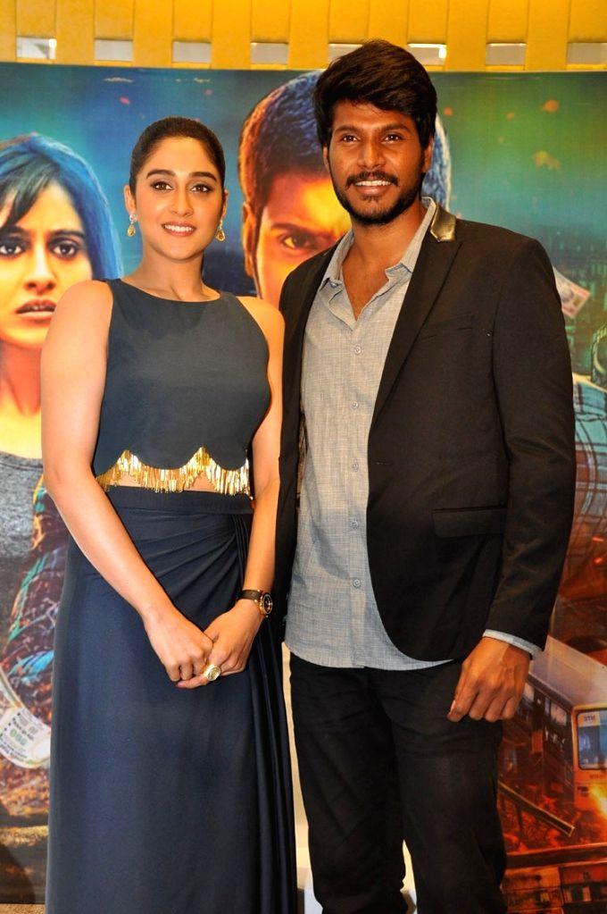 Actors Sundeep Kishan and Regina Cassandra during the Nagaram Movie Press Meet in Hyderabad - Sundeep Kishan and Regina Cassandra