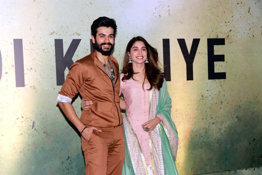 Actors Sunny Kaushal and Sharvari at a live music concert led by singer-composer Pritam Chakraborty accompanied by 1000 other musicians, organised by the makers of his upcoming web series on ... - Sunny Kaushal, Sharvari and Pritam Chakraborty