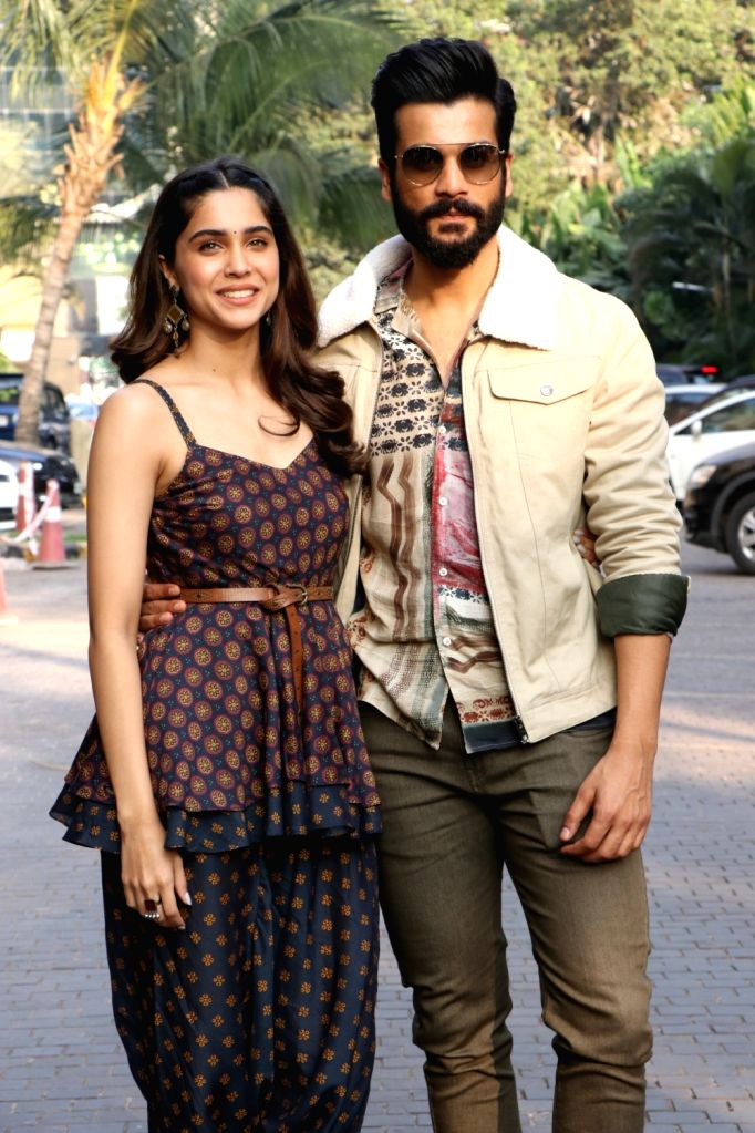 """Actors Sunny Kaushal and Sharvari Wagh during the promotions of their upcoming film """"The Forgotten Army"""" in Mumbai on Jan 8, 2020. - Sunny Kaushal and Sharvari Wagh"""