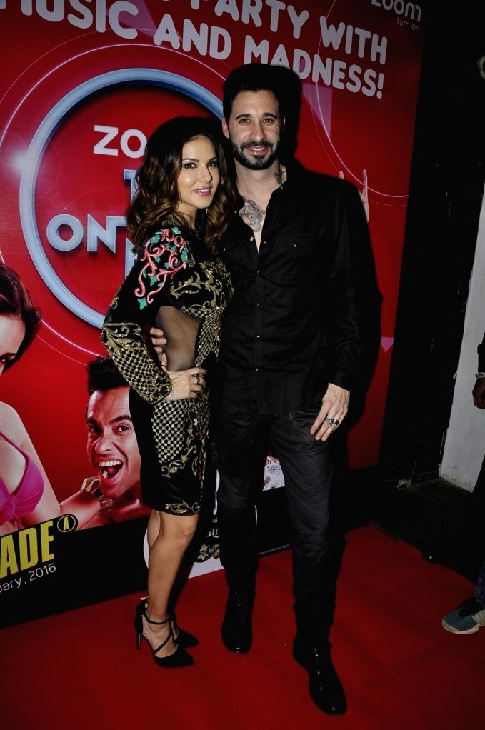 Actors Sunny Leone and Vir Das during the promotion of film Mastizaade in  Mumbai. - Sunny Leone and Vir Das