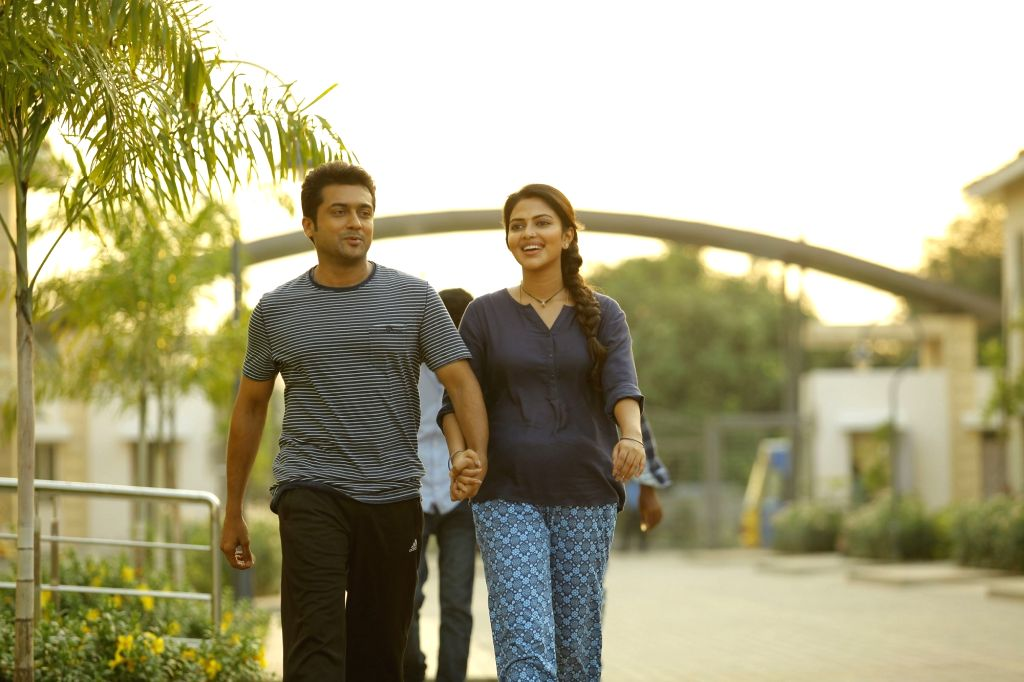 "Actors Suriya and Amala Paul Starring Movie ""Memu"" stills."