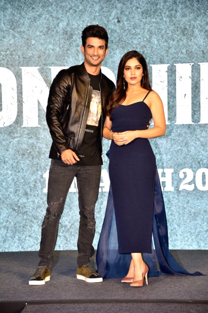 Actors Sushant Singh Rajput and Bhumi Pednekar during a press conference to promote their upcoming film 'Sonchiriya' in Mumbai, on Feb 9, 2019. (Photo: IANS)Ashutosh Rana - Sushant Singh Rajput and Bhumi Pednekar