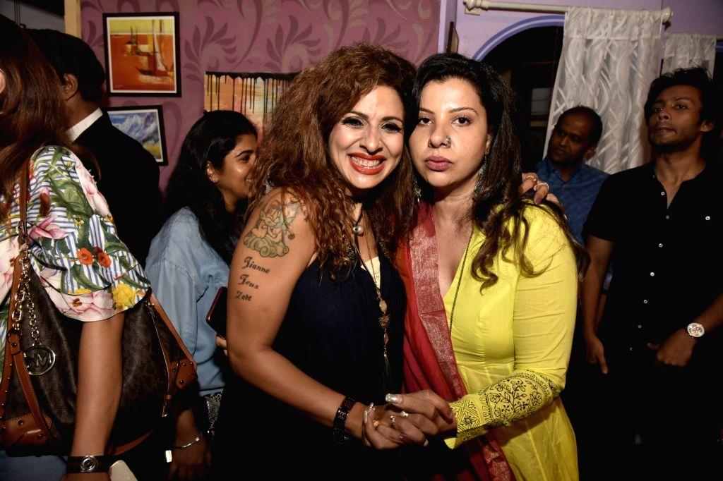 Actors Tanaaz Irani and Sambhavna Seth at the premiere of comedy play 'Wrong Number', in Mumbai on June 3, 2018. - Tanaaz Irani and Sambhavna Seth