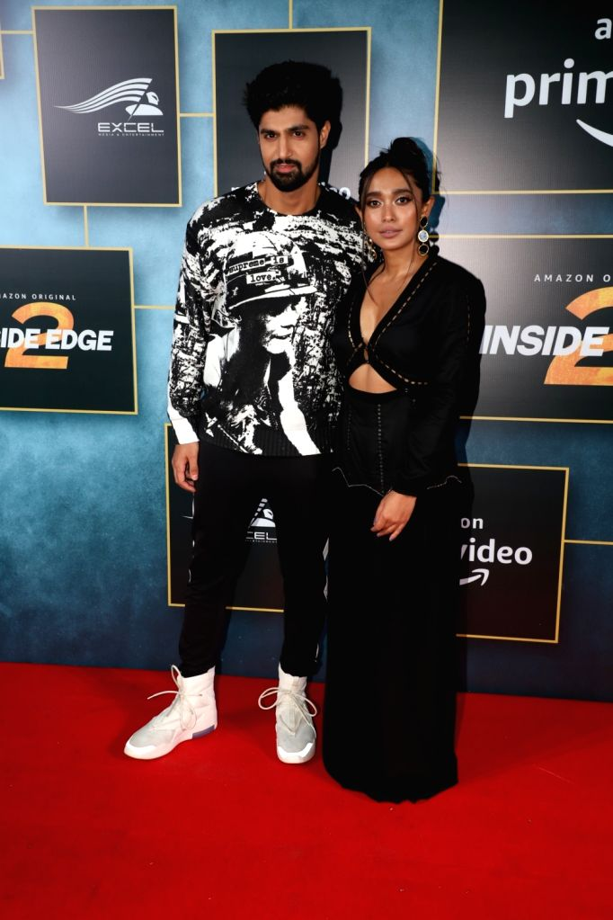 "Actors Tanuj Virwani and Sayani Gupta during the launch of upcoming web series ""Inside Edge Season 2"" in Mumbai on Dec 4, 2019. - Tanuj Virwani and Sayani Gupta"