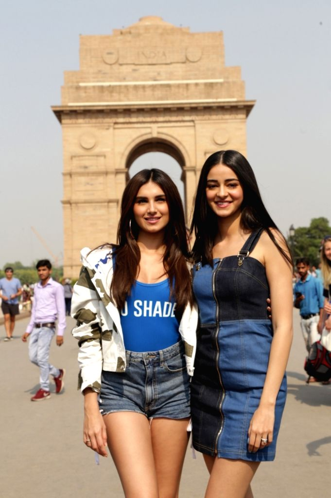 "Actors Tara Sutaria and Ananya Pandey during the promotions of their upcoming film ""Student of the Year 2"" in New Delhi, on May 6, 2019. - Tara Sutaria and Ananya Pandey"