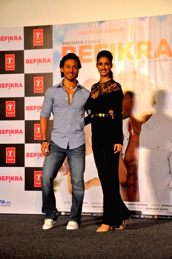 Actors Tiger Shroff and Disha Patani during the launch of Single Befikra - Tiger Shroff and Disha Patani
