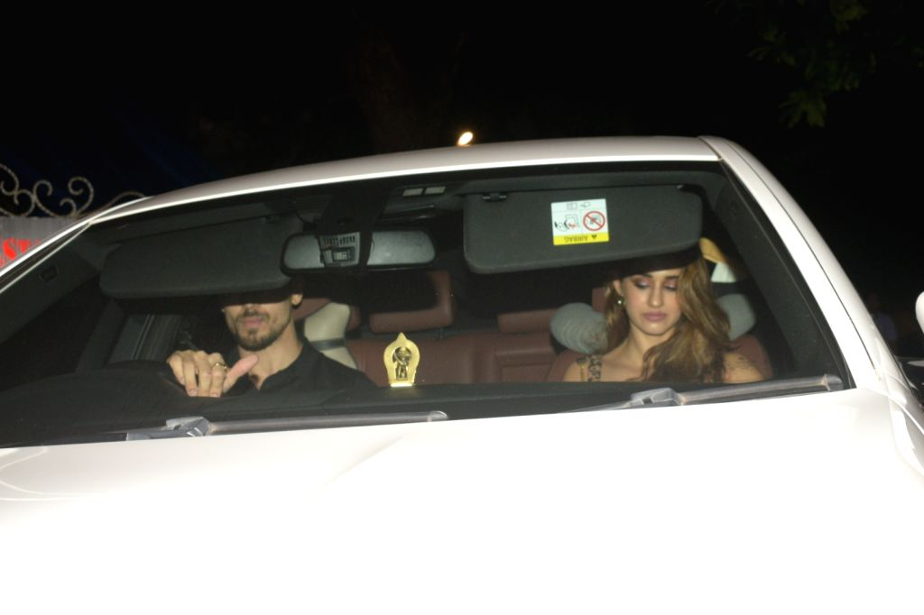 Actors Tiger Shroff and Disha Patani seen at Juhu in Mumbai on Sep 22, 2019. - Tiger Shroff and Disha Patani