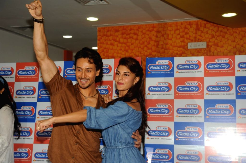 Actors Tiger Shroff and Jacqueline Fernandez  during the song launch of film A Flying Jatt at the ÊRadio City Studios in Mumbai on August 3, 2016 - Tiger Shroff and Jacqueline Fernandez