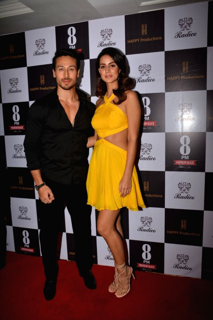 "Actors Tiger Shroff and Larissa Bonesion during the song launch ""Are You Coming"" Bandra in Mumbai Feb. 1, 2019. - Tiger Shroff and Larissa Bonesion"