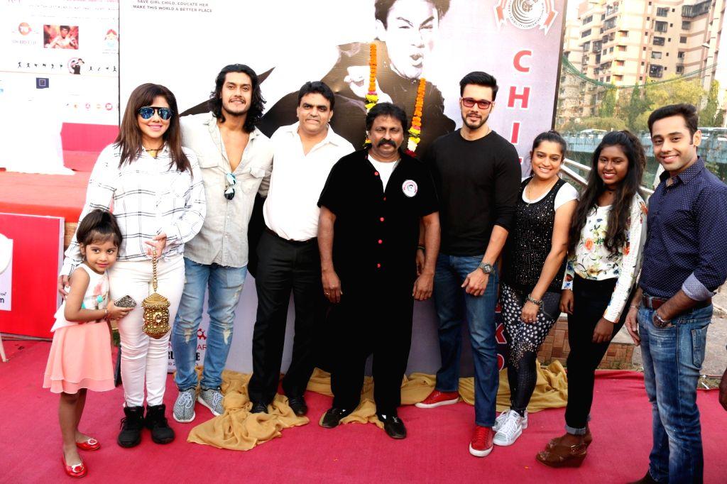 Actors Tina Ghai, Sourav Chakraborty, action director Cheetah Yagnesh Shetty and actor Rajneesh Duggal during Bruce Lee's 76th birth anniversary in Mumbai on Nov 25, 2016. - Cheetah Yagnesh Shetty, Tina Ghai and Sourav Chakraborty