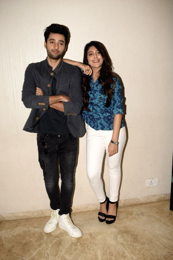 """Actors Utkarsh Sharma and Ishitha Chauhan at the trailer launch of upcoming film """"Genius"""" in Mumbai, on July 24, 2018. - Utkarsh Sharma and Ishitha Chauhan"""