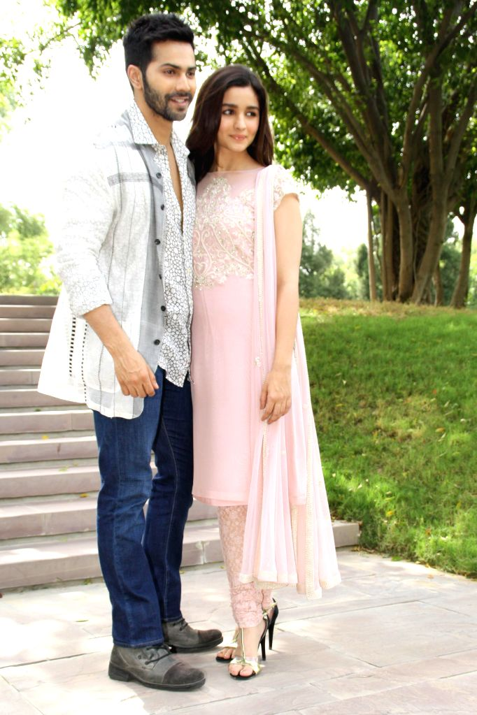 Actors Varun Dhawan and Alia Bhatt during a programme organised to promote their upcoming film `Humpty Sharma Ki Dulhania` in New Delhi on July 9, 2014. - Varun Dhawan and Alia Bhatt