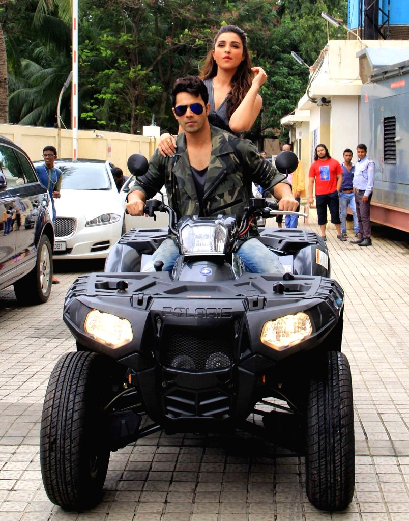 Actors Varun Dhawan and Parineeti Chopra during the launch of song Jaaneman Aah from film Dishoom in Mumbai on July 12, 2016. - Varun Dhawan and Parineeti Chopra