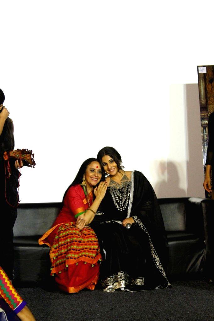 "Actors Vidya Balan and Ila Arun during the trailer launch of film ""Begum Jaan"" in Mumbai on March 14, 2017. - Vidya Balan and Ila Arun"