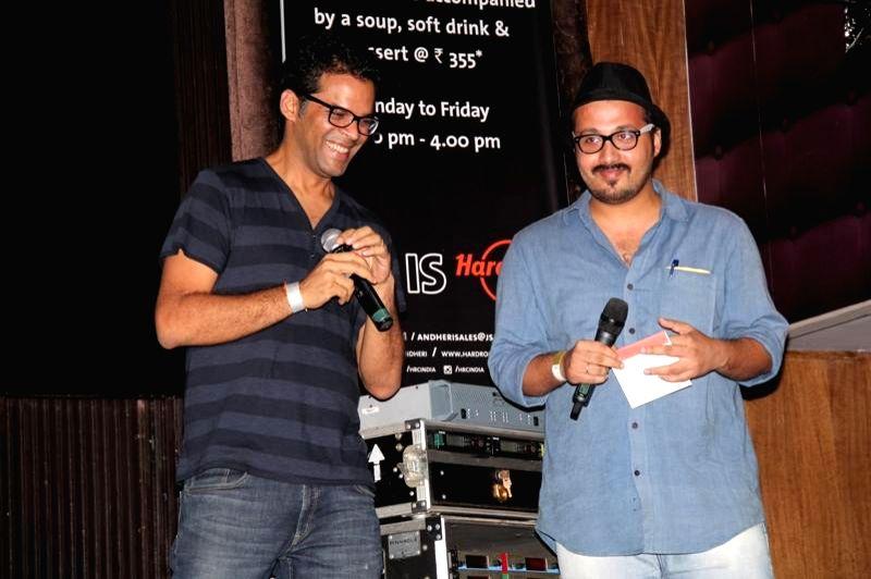 Actors Vikramaditya and Devanshu during the music launch of film Katiyabaaz in Mumbai on Aug 11, 2014. - Vikramaditya and Devanshu